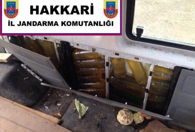 Jandarma 2 ton akaryakıt ele geçirdi