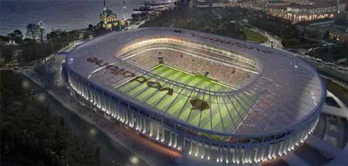 Vodafone Arenanın çatı inşaatı başladı
