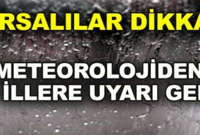 Meteorolojiden Bursa'ya kuvvetli yağış uyarısı!