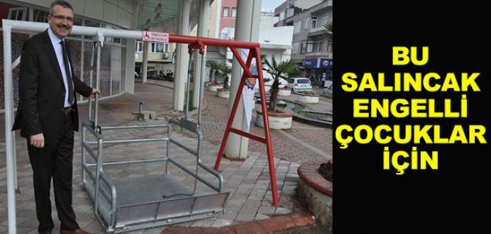 Belediyeden engellilere özel salıncak