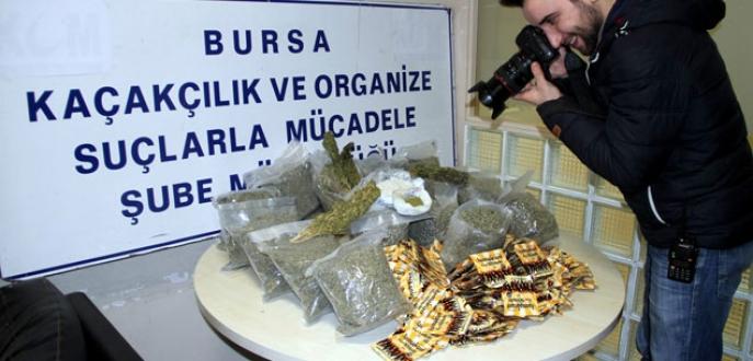 Bursa'da rekor miktarda uyuşturucu ele geçirildi