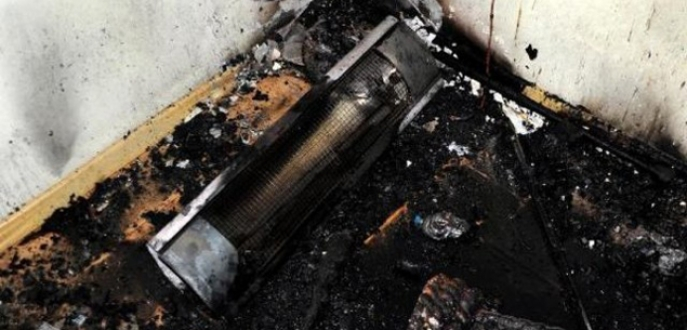 Elektrikli sobadan çıkan yangın evi kül etti
