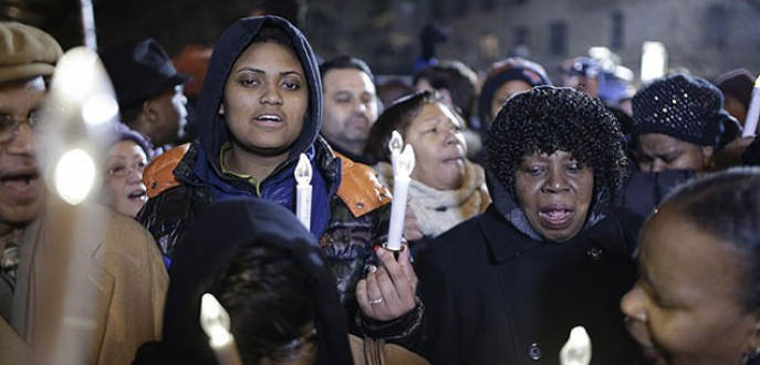 ABD'de öldürülen polis memurları için anma