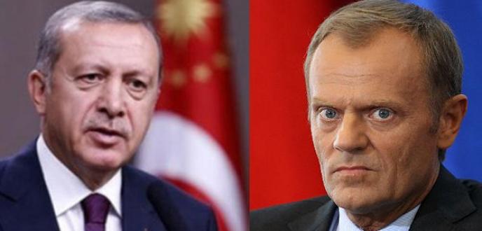 Cumhurbaşkanı Erdoğan'dan Tusk'a tebrik