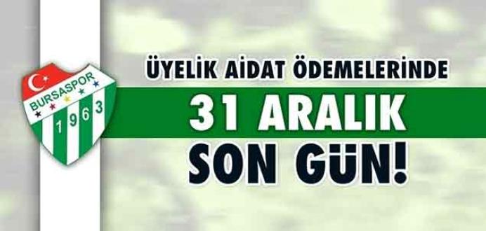 Bursaspor'dan kulüp üyelerine 'aidat' uyarısı