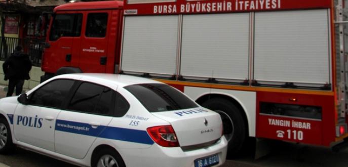 Bursa'da soba kovasından çıkan yangın korkuttu