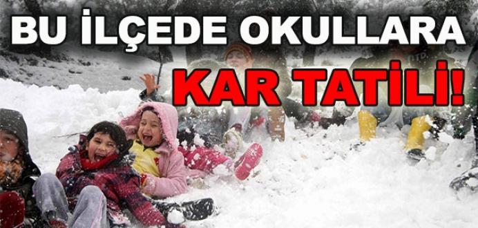 Bursa'da bu ilçede okullara kar tatili geldi!