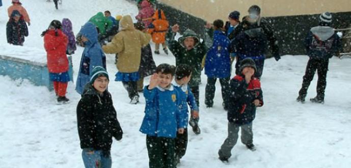 O illerde eğitime kar tatili