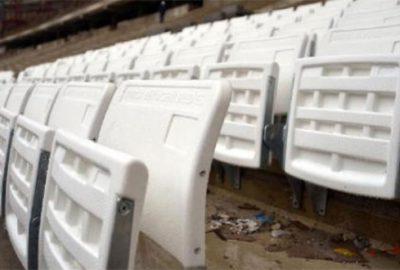 Timsah Arena'nın koltuk montajı başladı