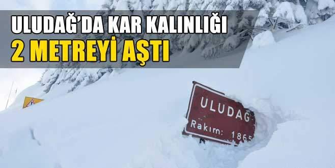 Uludağ'da kar kalınlığı 2 metreyi aştı!