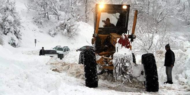Bursa'da 332 köy yolu kapalı