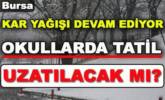 Bursa'da kar yağışı devam ediyor! Okullar yarın da tatil mi?