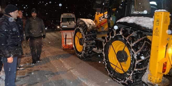 Başkan Edebali kar denetiminde