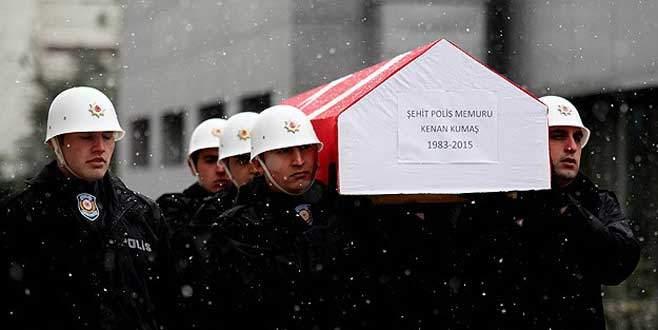 Şehit polis memuru Kumaş için tören düzenlendi
