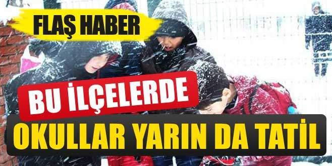 Bursa'da bu ilçelerde okullar yarın da tatil edildi