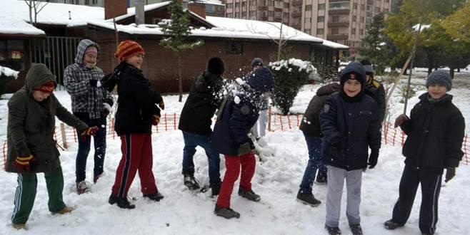 Ankara'da kar tatili!
