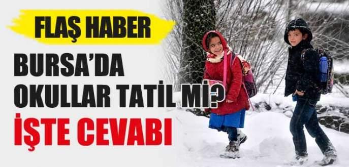 Bursa'da bugün okullar tatil mi? (09 Ocak Cuma günü tatil mi?)