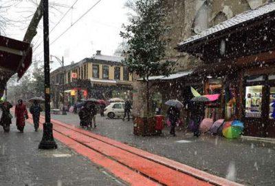 Bursa'da kar yağışı başladı