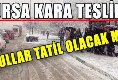 Bursa kara teslim! 13 Ocak Salı günü okullar tatil olacak mı?