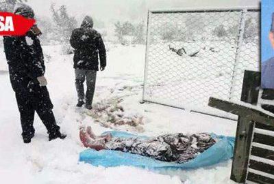 Kayıp adamın cesedi günler sonra karlar altında bulundu