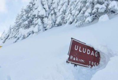 Uludağ'da kar kalınlığı 3 metreyi geçti!