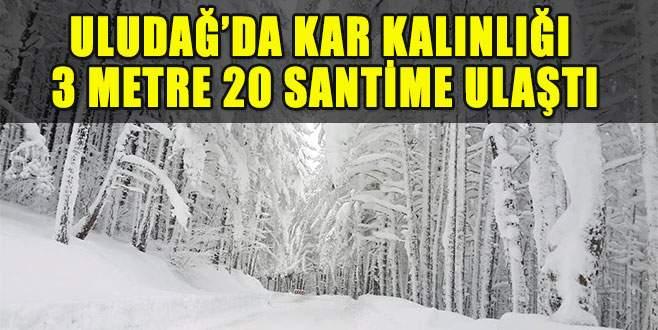 Uludağ'da kar kalınlığı rekor kırdı!