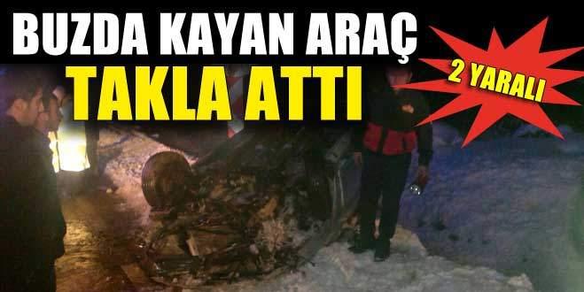 Bursa'da buzlanma kaza getirdi