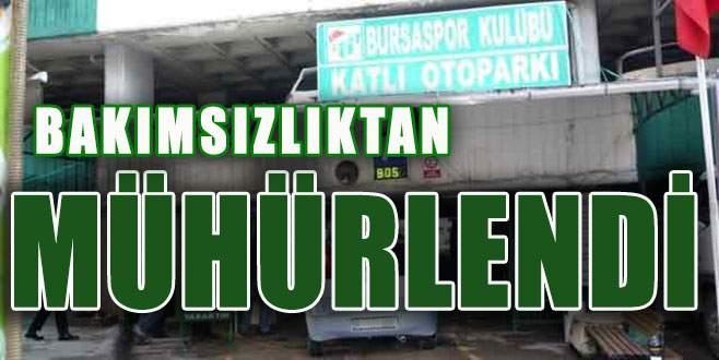 Bursaspor Otoparkı'nın hali içler acısı