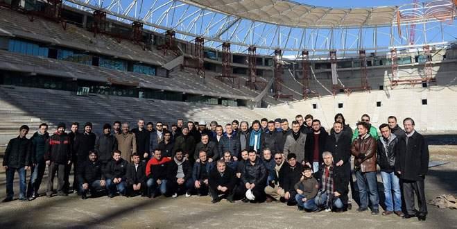 Mimar ve mühendisler Timsah Arena'yı inceledi