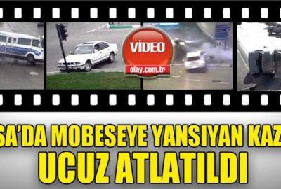 Bursa'da MOBESE'ye takılan trafik kazaları