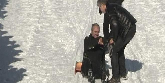 Başkan parkuru tamamladı, Vali'nin kızağı spin attı