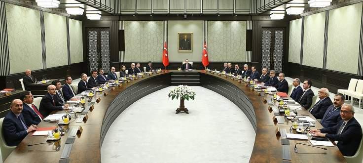 Bakanlar Kurulu Cumhurbaşkanlığı Sarayı'nda toplandı