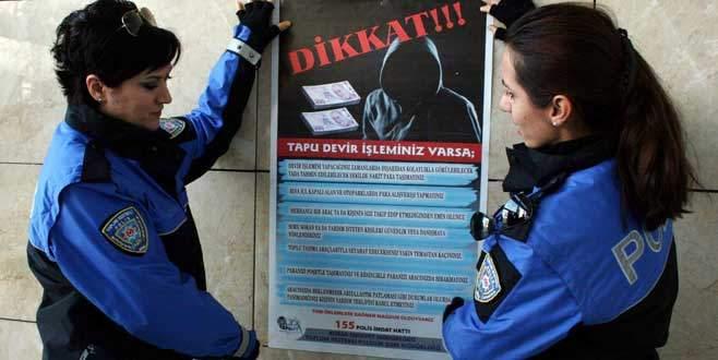 Bursa'da dolandırıcılığa broşürlü önlem