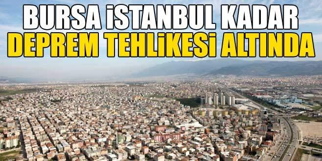 'Bursa İstanbul kadar deprem tehlikesi altında'