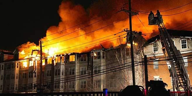 Türk diplomatların yaşadığı sitede yangın