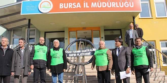 Bursa Tarım İl Müdürlüğü'ne termik santral tepkisi!