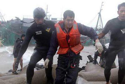 Güney Kore açıklarında gemi kazası