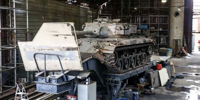 Çalıntı araç ararken iki tank buldular