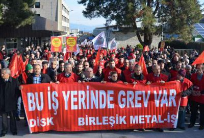 Metal sektöründe grev başladı