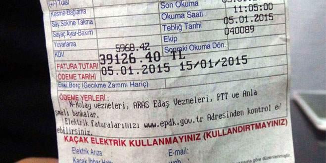 Boş eve 39 bin lira elektrik faturası