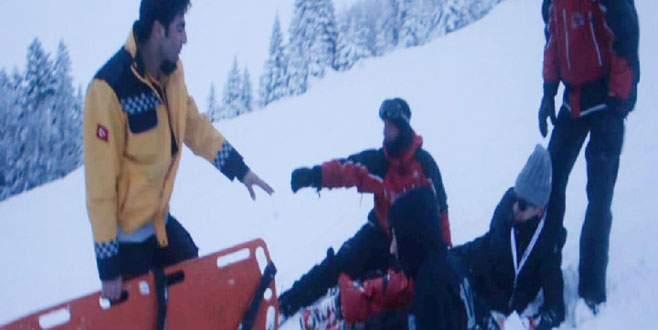 Uludağ'da kayak kazası