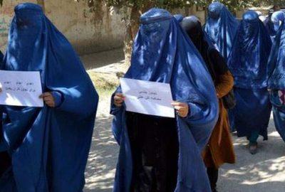 Afgan kadınlardan hükümete protesto