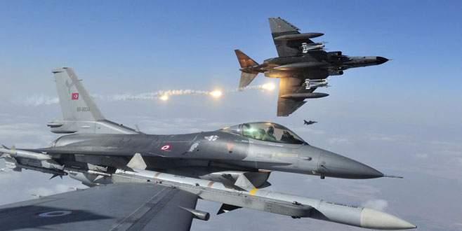 Türk uçaklarına taciz!