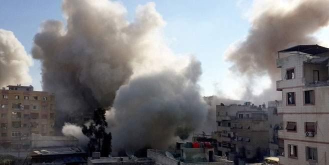 Muhalifler Şam'ı füzelerle vurdu