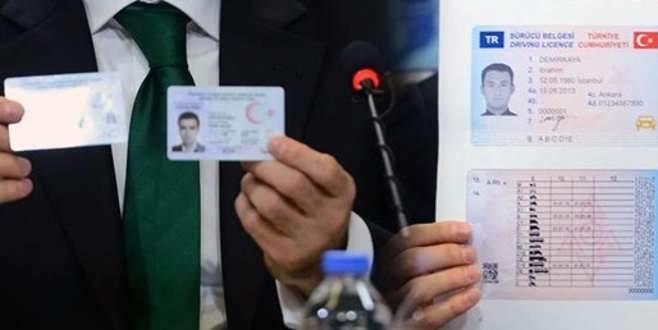 İşte yeni ehliyet ve kimlikler