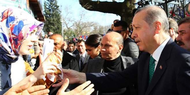 Ulucamii'de Erdoğan izdihamı