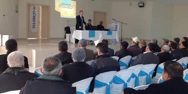 Harmancık'ta Tarım Kredi Kooperatifi çiftçileri bilgilendirdi
