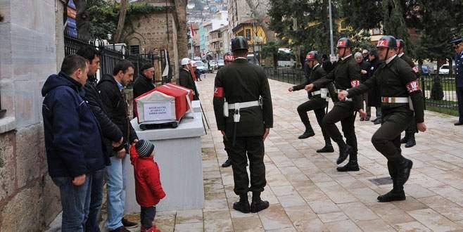 Bursa'da Kıbrıs gazisine son görev!