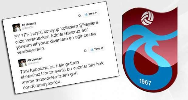 Trabzonspor'dan TFF'ye sert bir tepki daha!