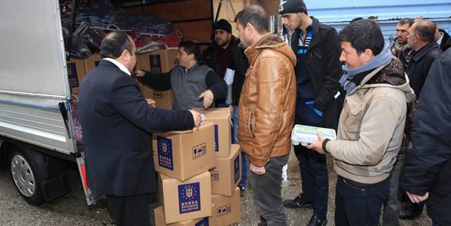 Büyükşehir'in yardım eli Türkmenlere uzandı